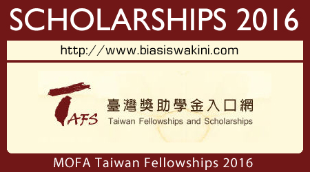 MOFA Taiwan Fellowship 2016