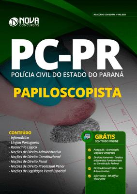 Apostila Concurso Polícia Civil PR 2020 Papiloscopista Grátis Cursos Online