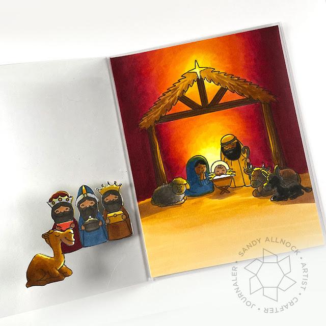 Sunny Studio Stamps: Holy Night Customer Card by Sandy Allnock