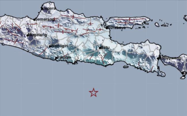 Gempabumi Berkekuatan M 5.3 Guncang Kabupaten Blitar dan Sekitarnya