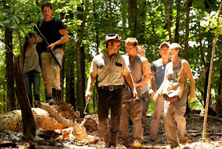 Group of 'The Walking Dead' characters in the woods