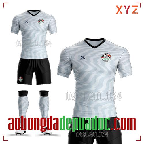 Áo Ai Cập 2020 Training 1 Màu Trắng Đẹp Và Độc