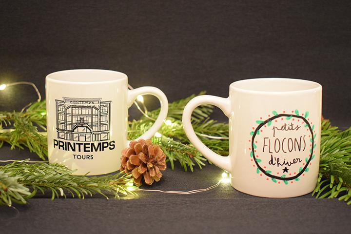DIY mug personnalisé feutres porcelaine motifs