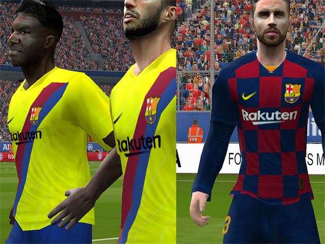 outlet store 79784 ff575 PES 6 FC Barcelona New Season kits 2019/2020 - Micano4u ...