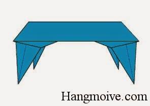 Bước 14:  Lật ngược lại ta sẽ thấy một cái bàn đã được hình thành.