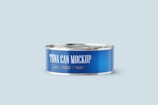 Can of Tuna Mockup