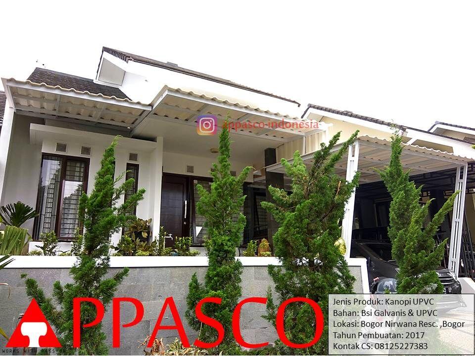 Kanopi Minimalis Modern UPVC di Nirwana Residence Bogor