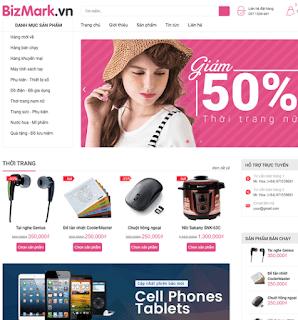 Giao diện Web bán hàng BizMark - Theme Blogspot - Blogspotdep.com