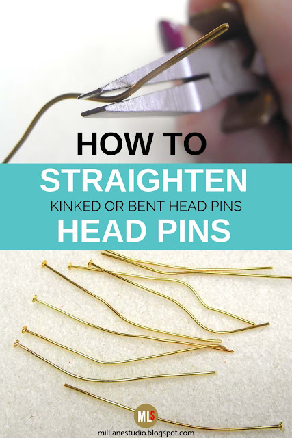 Straightening bent head pins inspiration sheet
