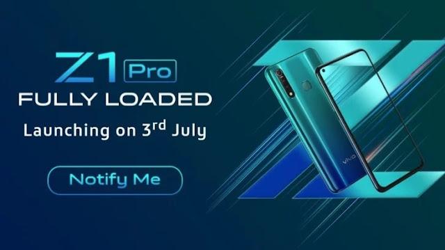 Vivo Z1 Pro July 3 Launch Date