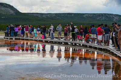 黃石國家公園, yellowstone national park, Midway Geyser Basin, Grand Prismatic Spring, 大稜鏡溫泉