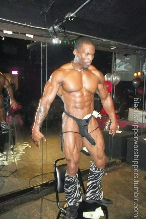 Black Male Stripper Bulge-7735