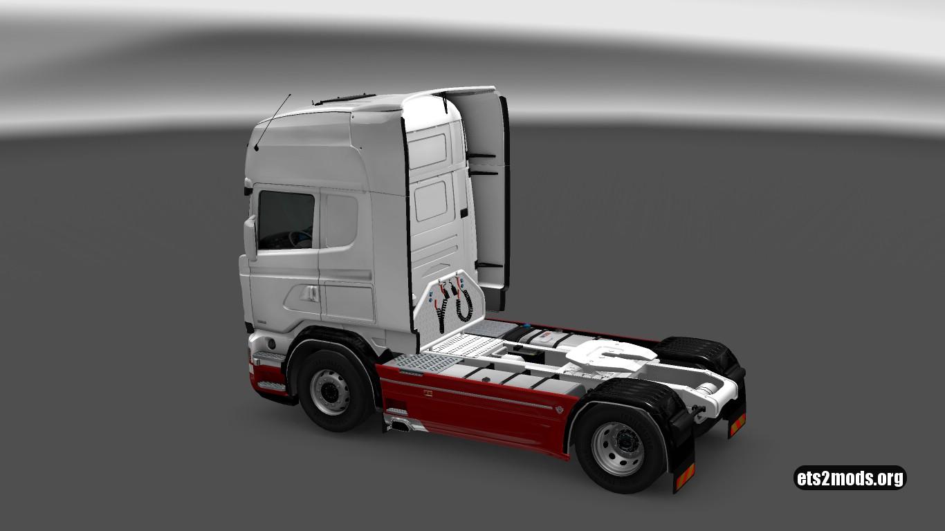 Scania RJL White Skin