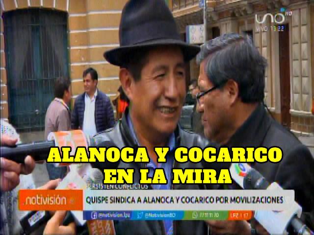 Quispe sindica a Alanoca y Cocarico por movilizaciones violentas en el Alto y zonas rurales