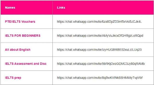 IELTS prep whatsapp group link