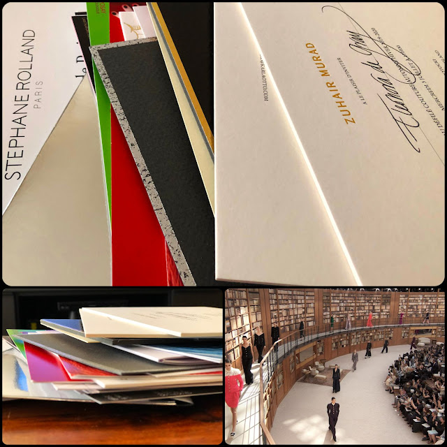 47 invitations to the shows and presentations for 3 days of fashion week