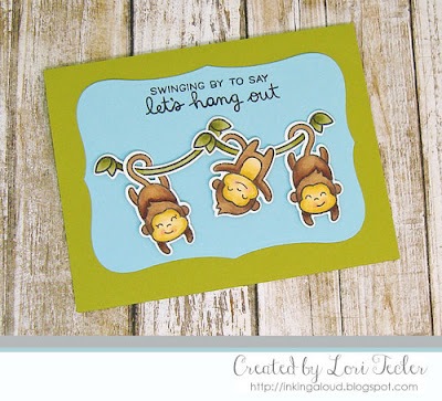 Let's Hang Out card-designed by Lori Tecler/Inking Aloud-stamps from Lawn Fawn