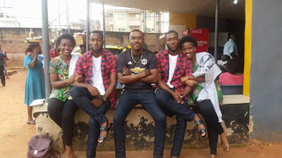 Photos: Someday we shall have lovely ones - Man pens message to future wife after meeting two pairs of cute identical twins in Anambra
