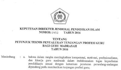 Download Cepat Juknis Tunjangan Profesi Guru (TPG) Tahun 2016