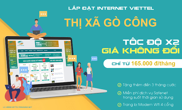 Lắp Đặt Internet Cáp Quang Thị Xã Gò Công Tiền Giang
