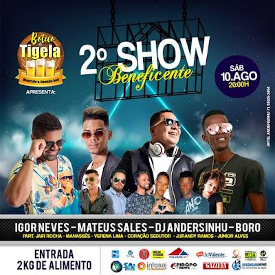 Boteco do Tigela recebe 2º Show Beneficente neste final de semana