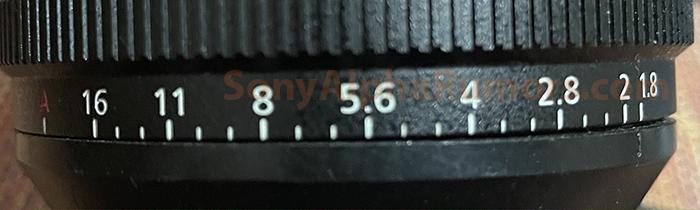 Кольцо регулировки диафрагмы объектива Sony FE 14mm f/1.8 GM