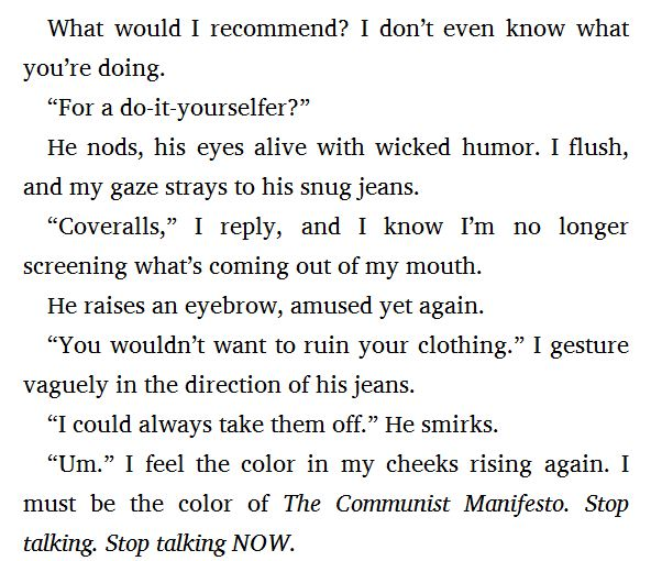 clear s own yes i agree stop talking now this reminds me that reading the communist manifesto would probably be more entertaining than this book