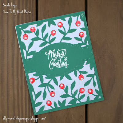 card created with Olive Branches Background
