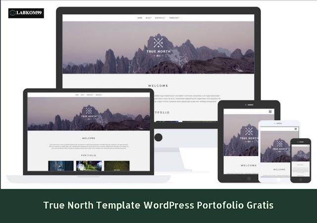 True North Template WordPress Portofolio Gratis
