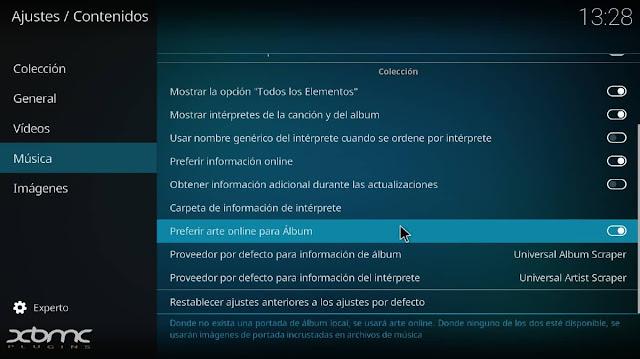 descargar album caratula musica kodi