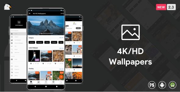 4K/HD Wallpaper Android App (Google Material Design + Admob + Firebase Push Noti + PHP Backend) v2.8 Download