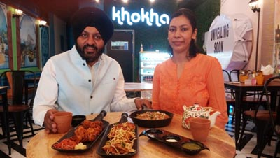 Jameet Singh briefing about the dishes during the launch of Khokha Cafe in Ludhiana