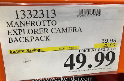 Deal for the Manfrotto Explorer Camera Backpack at Costco