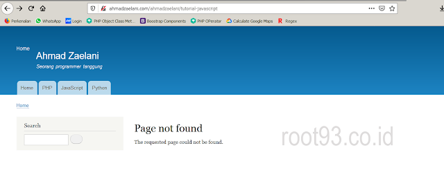 page not found on drupal 9