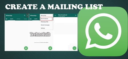 Creating a mailing list can be useful, for example, to send a specific message to a large group of people.