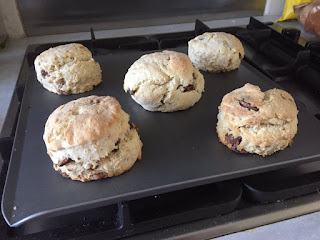 Chocolate and hazelnut scones