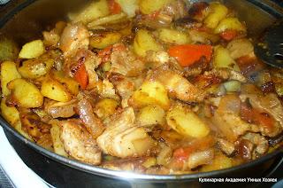 оджахури из свинины с картофелем готово