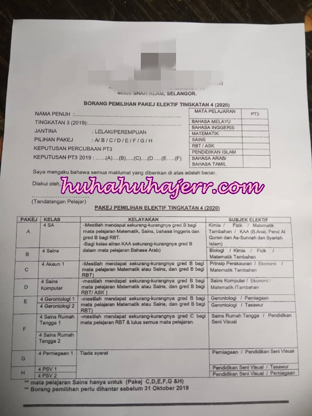 Pemilihan Aliran Ke Tingkatan 4 Selepas PT3, Ibubapa Pun Pening Juga Nak Fikir...