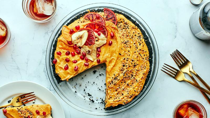Pumpkin-Tahini Mousse Pie