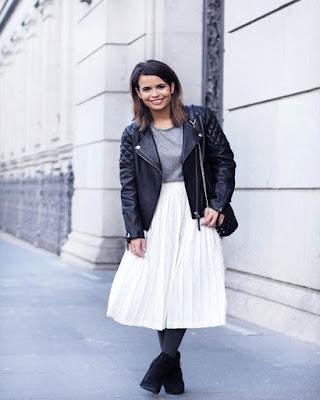 falda blanca para invierno casual