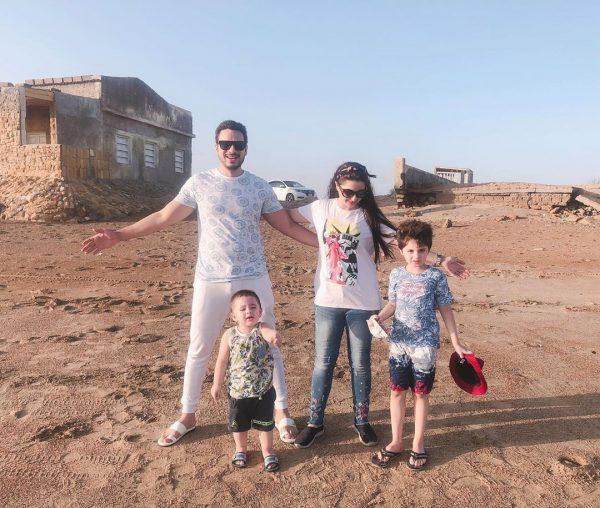 Fatima Effendi and Kanwar Arsalan Fun Pictures from Beach