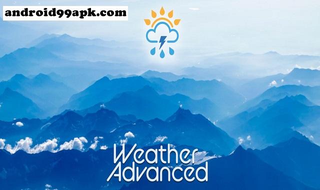 تطبيق Weather Advanced v1.0.5.0 للتنبؤ الدقيق بالطقس كامل بحجم 7 MB للأندرويد