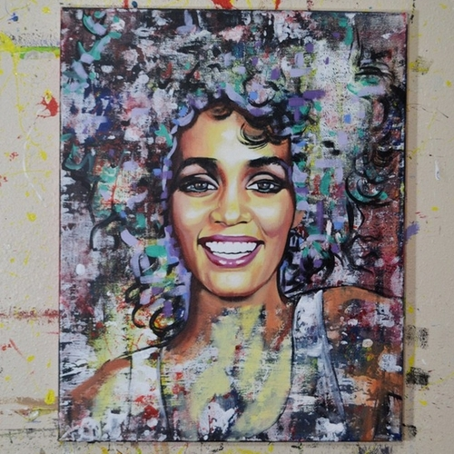 09-Whitney-Houston-Jonathan-Harris-Celebrity-Paintings-Images-and-Videos-www-designstack-co