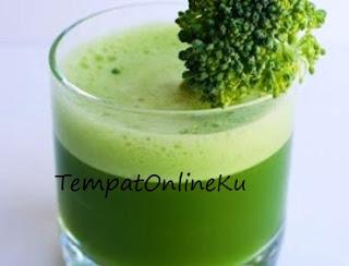 jus brokoli susu sehat enak