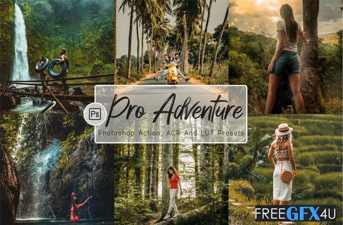 07 Pro Adventure Photoshop Actions, ACR, LUT Presets