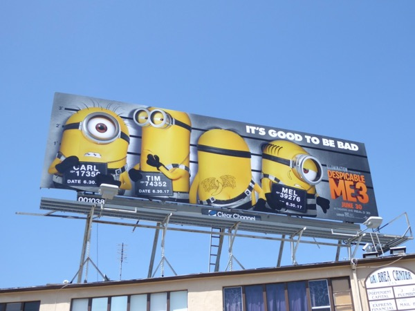 Despicable Me 3 good to be bad billboard
