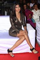 Pooja Hegde looks glamarous in deep neck sleevless short tight golden gown at Duvvada Jagannadham thank you meet function 058.JPG