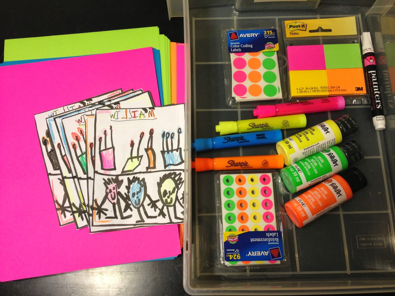 Creative Little House: Neon Birthday Invites a party for William