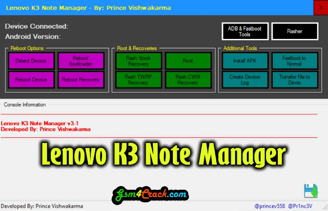 Download Lenovo K3 Note Manager Tool Latest Version