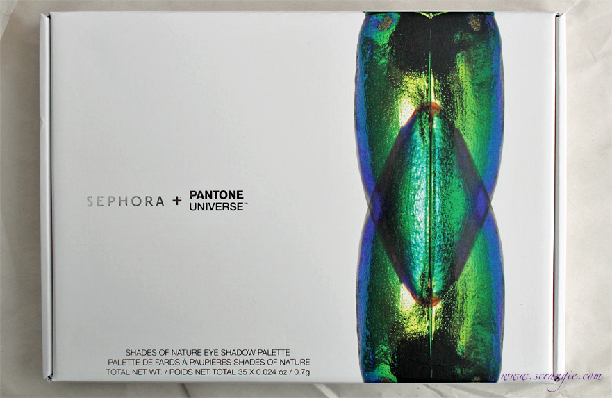 1487997381 It's called the Sephora + Pantone Universe Shades of Nature Palette and it  has 35 different eyeshadow colors, all Pantone shades.